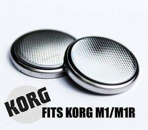 New Replacement Internal Battery for KORG M1 & M1R Keyboards (2 Batteries)