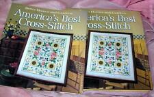Vintage 1988 Better Homes Giardini Artigianato Libro America's Best Croce Punto