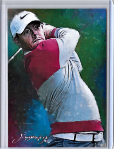 Rory McIlroy Authentic Artist Signed Limited Edition Giclee Print Card 12 of 50