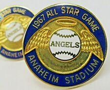 1967 ALL STAR GAME Press Pin pair cuff links Anaheim California Angels baseball