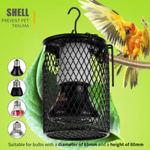 Reptile Ceramic Heat Lamp Holder Light Switch Cage for Snake Chicken Brooder -