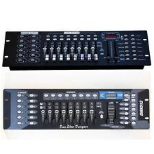 MIXER CENTRALINA LUCI DMX 512 CONTROLLER FARI PAR LED TESTE MOBILI STROBO 192 CH