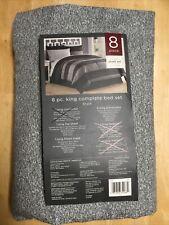 New listing Liberty Target 180 Thread Count King Sheet Set Gray Fits 14� Mattress Cotton New