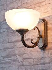 Jugendstil Wandleuchte mit Zugschnur Schalter Wandlampe Messingoptik Leuchten