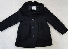 Old Navy Black Ruffled Collar Wool Blend Coat 4T Fancy Adorable