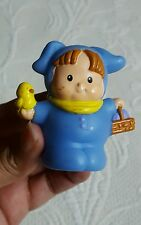 Fisher Price Little People BLUE EASTER BUNNY Flower Costume Spring Holiday Used