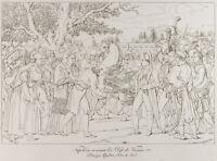 Gravur 1876: Stecker aus Wien Von Napoleon Bonaparte. Schlüssel, Österreich