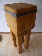 Alter Vintage Industrial Design Küche Hakeklotz Hauklotz Beistelltisch Tisch