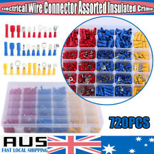720× Assorted Insulated Electrical Wire Terminal Crimp Spade Connector Kit W/Box