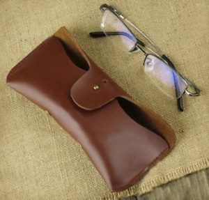men women Eyeglass Cases sunglasses bag cow Leather Customize red brown Gifts