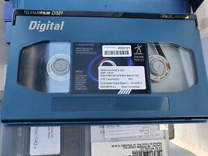 FUJIFILM D321 D124L DIGITAL BETACAM VIDEOTAPE - 124 MINS - PAL/NTSC EX METRODOME