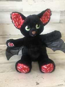 "Build-A-Bear Vampire Bat Glow-in-the-Dark 19"" Plush Spooktacular Boorrific Black"
