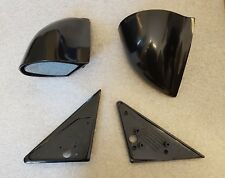 Black Manual DTM Style Mirrors & Base Plates fits BMW E36 2 Door Models