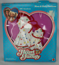 NRFB 1986 Heart Family Mom and Baby Fashions Pack ABC Sundress Vintage Mattel