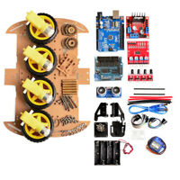 4WD DIY Smart Robot Car Chassis Avoid Tracking Motor Speed Encoder Battery Box