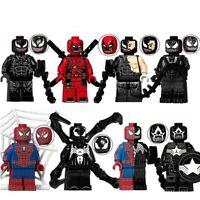 Spiderman Deadpool Venom Marvel The Avengers Convocative Blocks Toys Children