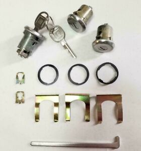 NEW 1969-1972 Chevelle, GTO, Skylark, Cutlass Door & Trunk Lock set with GM keys