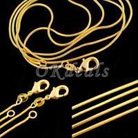 des bijoux 16 - 30 cm collier, chaîne de serpent plaqué or 18k jaune combler