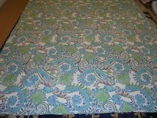 Pretty Aqua & Green Paisley Pattern Quilt