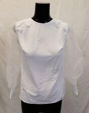 ASOS Women's Long Sleeve Organza Sleeve Detail Top SC4 White Size US:0 UK:4