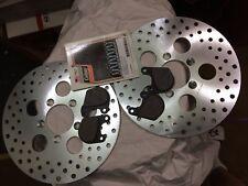 HARLEY BRAKE ROTOR disc steel 10'' + PADS BOLTS FX FXR XL 77/83 HD 44137-77A