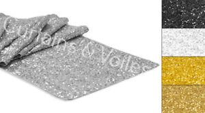 "Sequin Sparkle wedding Party Table Runner Genuine UK SELLER 12"" x 108"" COLOURS"