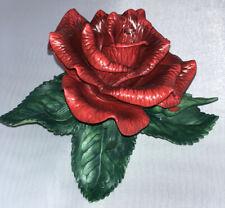 Lenox Red Rose Garden Sculpture Porcelain Figurine in Box with Coa