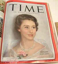 OCT-DEC 1955 13 ISSUE TIME MAGAZINE LOUIS MARX PRINCESS MARGARET CASEY STENGEL