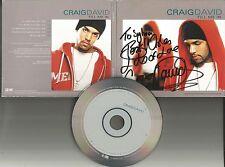 CRAIG DAVID Fill Me In 5TRX w/ MIXES & INSTRUMENTAL AUTOGRAPHED PROMO CD Single