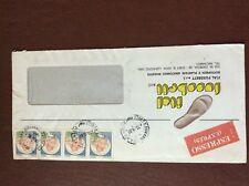 b1u ephemera stamped franked envelope ital fussbett italy 350 4 stamps