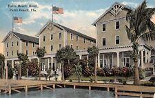 Palm Beach Florida~Couple on Corner of Dock~Three Gable Hotel~c1910