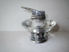 MCM Atomic Age RONSON TABLE LIGHTER Glass & Chrome WORKS!