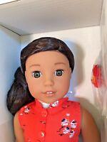 "American Girl Beforever Nanea Mitchell Doll 18"" + Book Hawaiian Doll NIB"