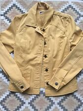 PENDLETON Women's Lightweight Cotton Jacket Button-Front SOFT GOLD Sz. XS - NICE