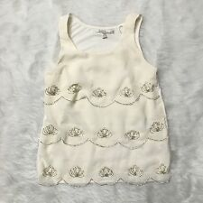 WT4 LC Lauren Conrad Scalloped Embellished Tank Blouse Women's Size XS