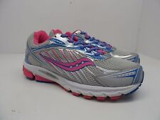 Saucony Girl's Progrid Ride 6 Athletic Running Shoe Silver/Pink/Blue Size 7B