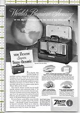 Zenith Super Trans Oceanic Portable Radio 1951 magazine print ad