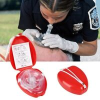 Portable First Aid Masks CPR Breathing Mask Mouth Breath One-way Resuscitation