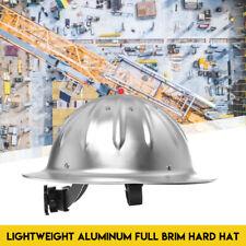 Full Brim Construction Hard Cap Safety Helmet Protected Lightweight Aluminum Hat