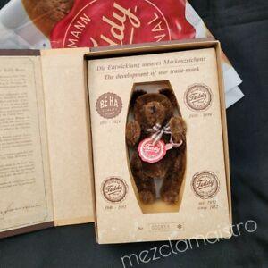 Vintage German HERMANN TEDDY BEAR in Box Original Jointed Mohair Hand Made 5 in