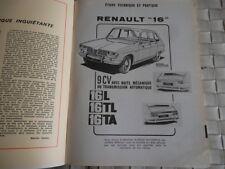 REVUE TECHNIQUE RENAULT 16 9CV BOITES MECANIQUE et TRANSMISSION AUTOMATIQUE