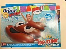 Aqua The Big Stink Float, Inflatable Emoji Poop Pool Raft, 4 Foot Float (A)