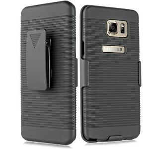For Samsung Galaxy Note 5 Shockproof Rugged Hybrid Hard Case Belt Clip Holster