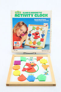 Elmo's Magnetic Activity Clock Tootsietoy 1993 Sesame Street In Box Made in USA