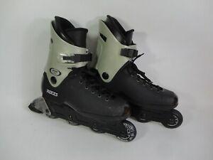 Roces FCO Rome Inline Skates UK Size 10 EU 44 - Roller Skating Italy Black Grey