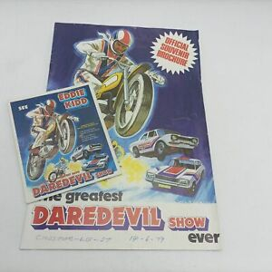 Vintage 'The Greatest Daredevil Show Ever' with Eddie Kidd (1979) Programme &...