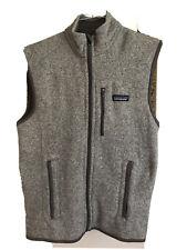 Patagonia Men's Gray Better Sweater Fleece Full Zip Vest - Small