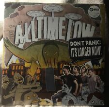 ALL TIME LOW Don't Panic It's Longer 2LP on MAROON/WHITE VINYL New STILL SEALED