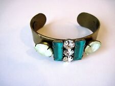 LOREN HOPE Brass Cuff With Stones And Crystals!