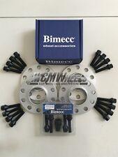 4 x 12mm Silver Alloy Wheel Spacers Black Bolts Locks - BMW F30 F31 F32 F33